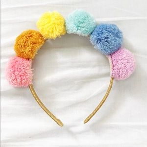 Cotton on Pom Pom pastel rainbow headband